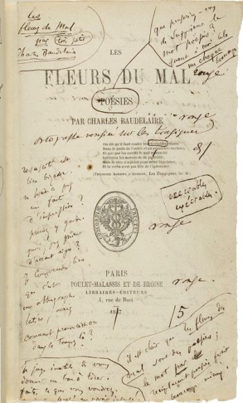 Fleurs du mal title page