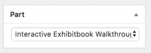 """The """"Part"""" dropdown for this book"""