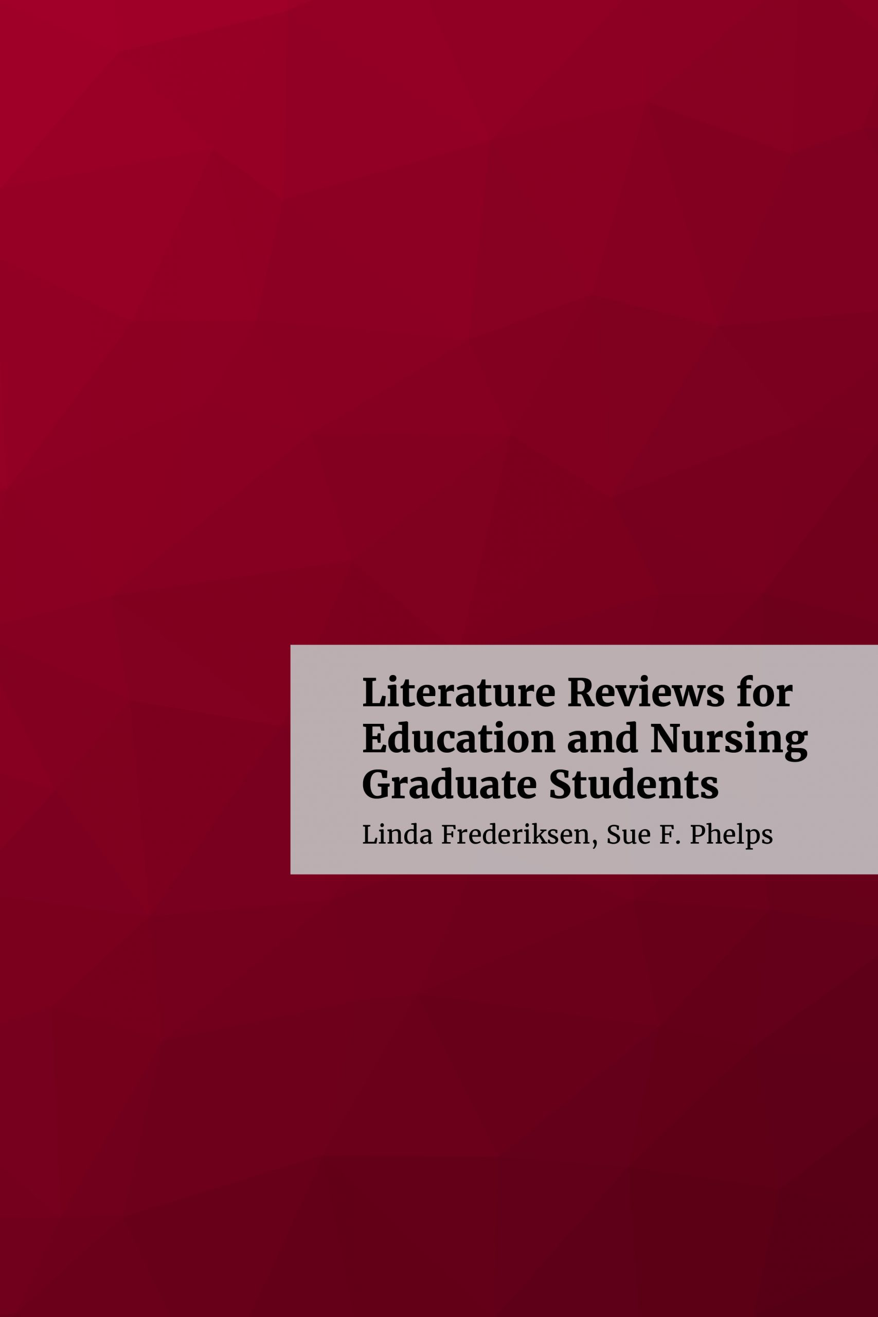 lit review book cover with title and simple red background